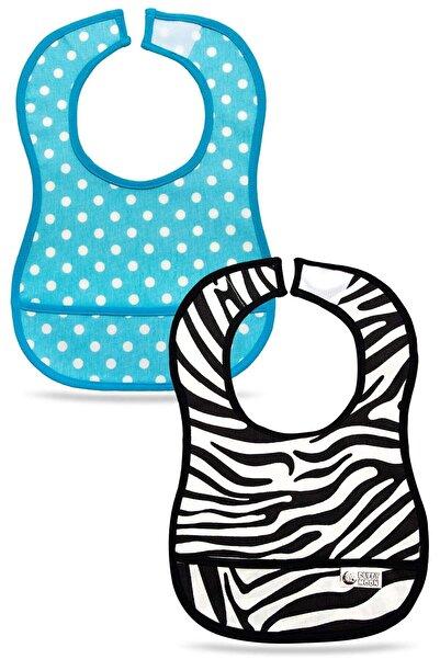 Puffy Moon Bebek Mama Önlüğü 2'li Paket - Su Geçirmez 6-24 Ay - Leke Tutmaz Oeko-tex Sertifikalı - Bebek Önlük