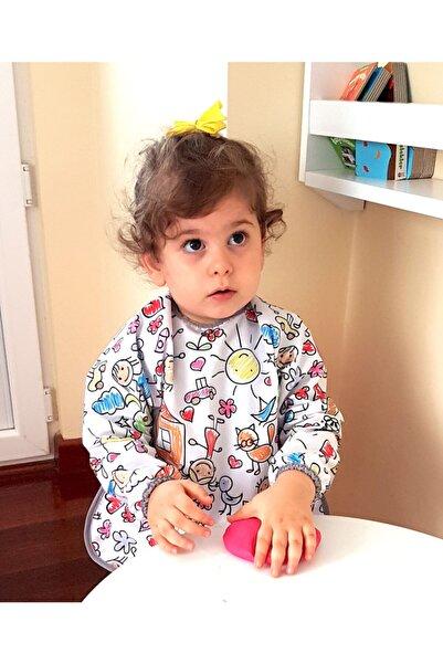 yorni Deluxe Uzun Kollu Bebek Mama Önlüğü 6-24 Ay