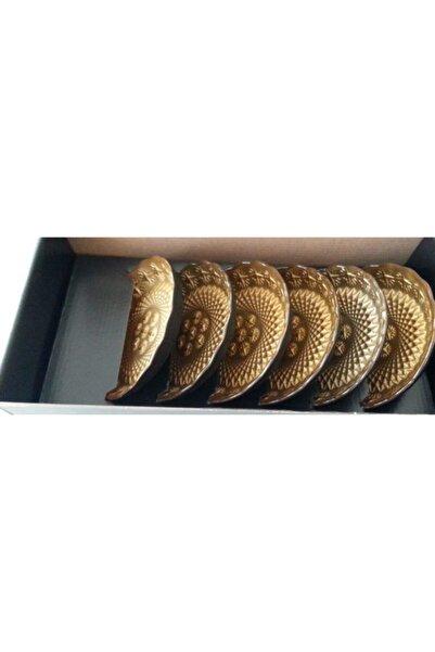 Sigma Pasta Tabağı 6 Parçalı Altın Rengi