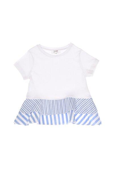 TRENDYOLKIDS Beyaz Dokuma Detaylı Kız Çocuk Örme Bluz TKDSS21BZ2128