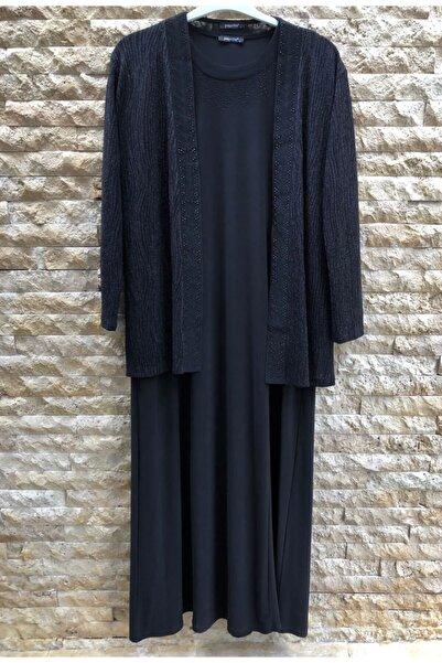 papilla Kadın Büyük Beden Elbise 9121