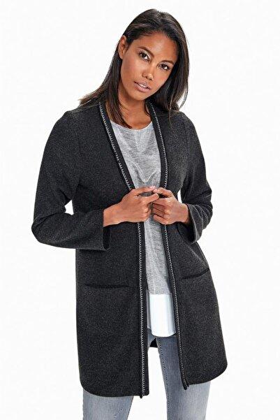 İKİLER Yakası Simli Şeritli Cepli Ceket