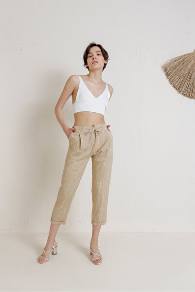 Batik A2021 Casual Pantolon Bej