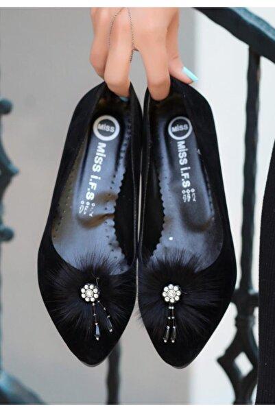 ESPARDİLE Reiso Siyah Süet Babet Ayakkabı