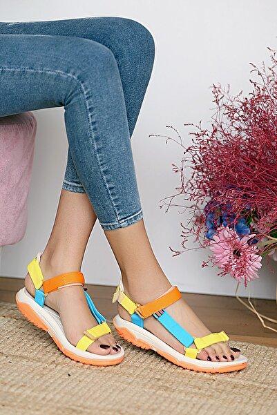 Pembe Potin Kadın Multi Sandalet