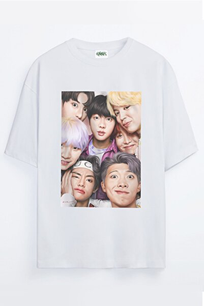 Grove Fashion Bts Army Bangtan Boys Baskılı Unisex Oversize T-shirt