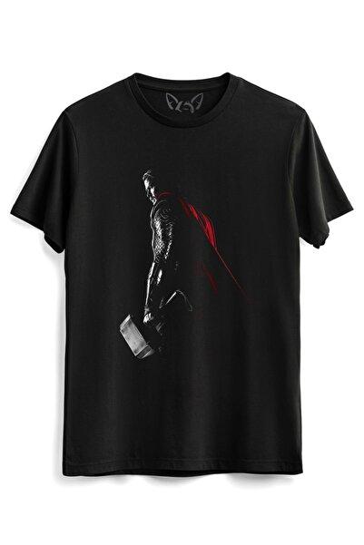 Alfa Tshirt Thor Mjolnir Tasarımlı Hammer Siyah Tshirt