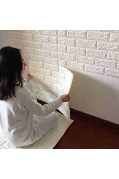 RENKLİ EVİM 5 Adet (2,5m2) X Beyaz - Kendinden Yapışkanlı Duvar Paneli