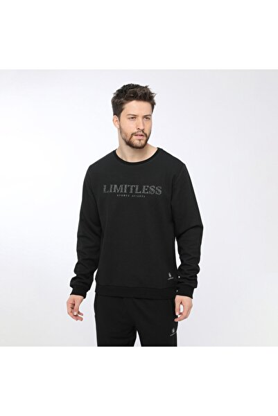 lumberjack IVAN SLOGAN SWEATSHIRT Siyah Erkek Sweatshirt 100565246