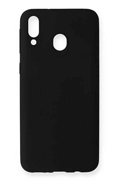 Samsung Galaxy M20 Kılıf Soft Yüzeyli Yıkanabilir Silikon Arka Kapak - Siyah