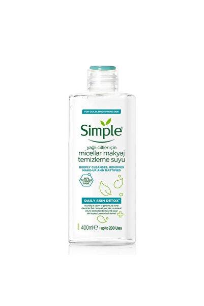 Simple Daily Skin Detox Yağlı Ciltler Için Micellar Makyaj Temizleme Suyu 400ml