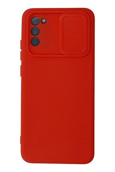 Samsung Galaxy A02s Kılıf Color Lens Silikon Grm - Kırmızı