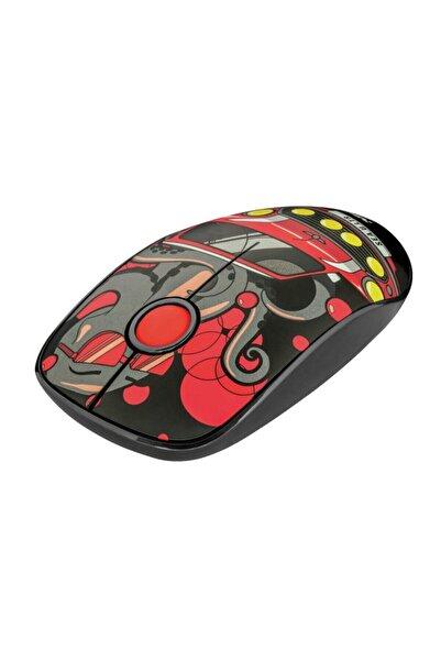 Trust 23336 Sketch Sessiz Click Kablosuz Kırmızı Desenli Mouse