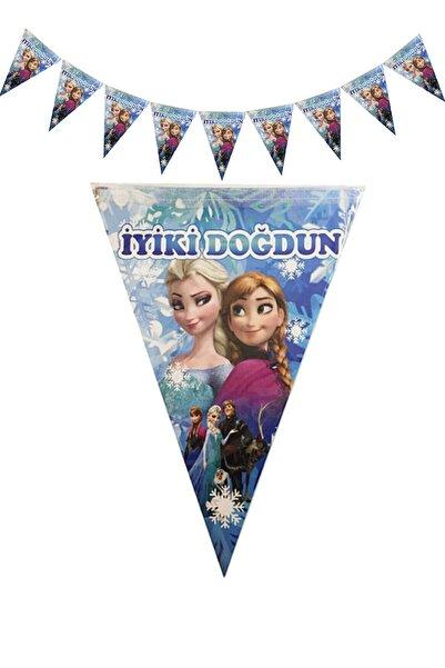 Parti dolabı Elsa Frozen Karlar Ülkesi Üçgen Flama