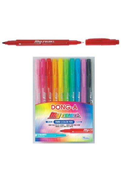 Dong-A Donga My Color 2 Çift Taraflı Keçeli Kalem 10 Renk
