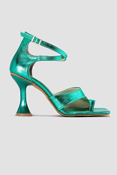 Limoya Geneva Yeşil Parmak Arası Topuklu Ayakkabı