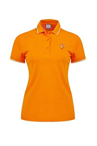 Ruck & Maul Kadın Polo Tişört 20y151 1263 - Turuncu