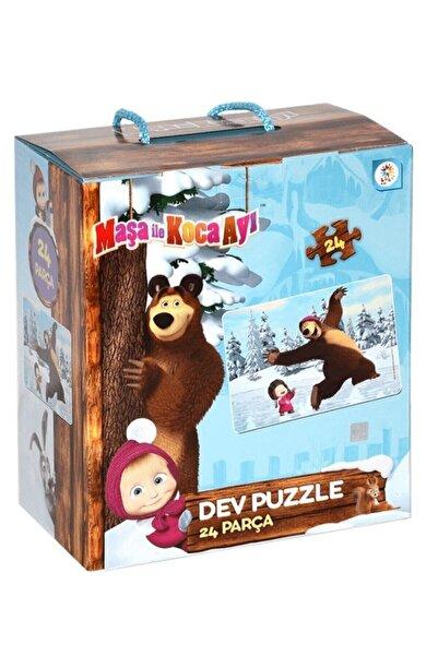 Furkan Toys Maşa Ile Koca Ayı Dev Puzzle 24 Parça