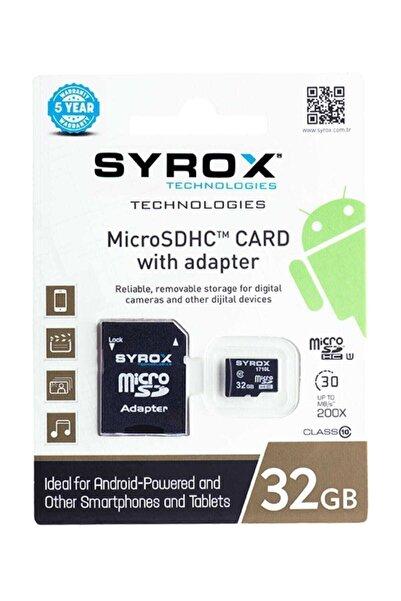 Syrox X39 Mc32 32 Gb Micro Sd Card Hafıza Kartı Adaptörlü