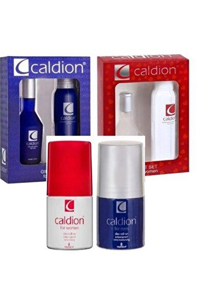 Caldion Bay 50ml Parfüm + Deo+rolon + Bayan 50ml Parfüm 4'lü Set