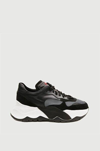 Male Industry Siyah Erkek Yüksek Taban Sneaker