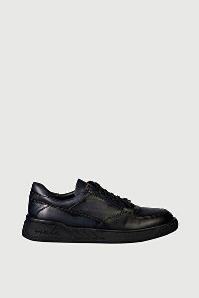 Male Industry Siyah Karartmalı Deri Erkek Sneaker