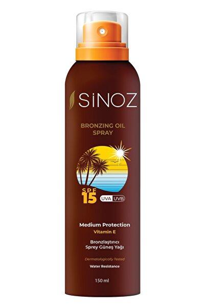SİNOZ Bronzlaştırıcı Sprey Güneş Yağı (spf15) 150 ml