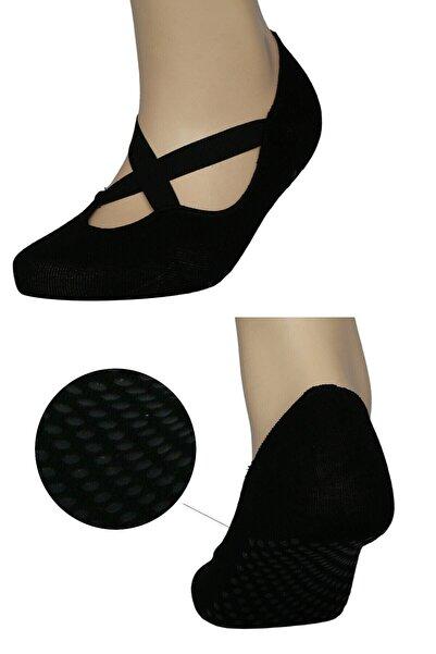 FandD Siyah Yoga&pilates Çorabı Kaydırmaz Tabanlı