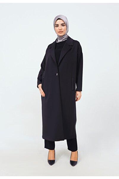 Setrms Düğme Detay Erkek Yaka Oversize Ceket
