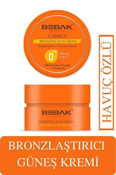 Bebak Havuç Özlü E Vitaminli Bronzlaştırıcı Güneş Kremi 100 ml Spf 0