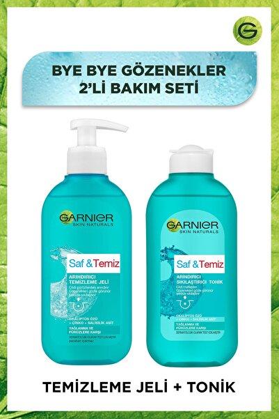 Garnier Bye Bye Gözenekler 2'li Bakım Seti - Saf & Temiz Arındırıcı Sıkılaştırıcı Tonik + Temizleme Jeli