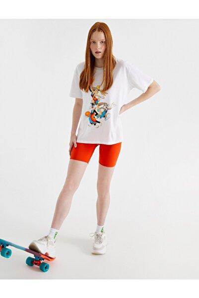 Koton Kadın Space Jam  Lisansli Pamuklu T-Shirt