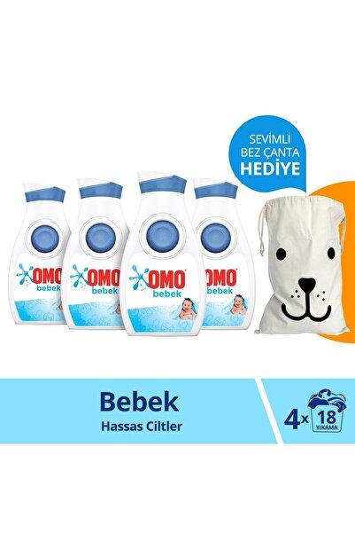 Omo Bebek Hassas Ciltler Için Sıvı Çamaşır Deterjanı 900 Ml 18 Yıkama X4