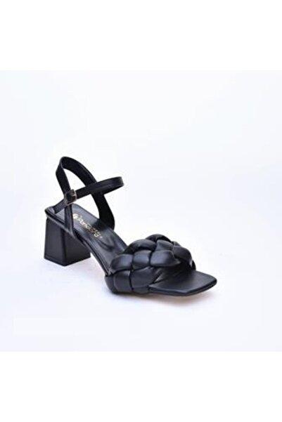 Pandora Kadın Siyah Topuklu Ayakkabı Js449