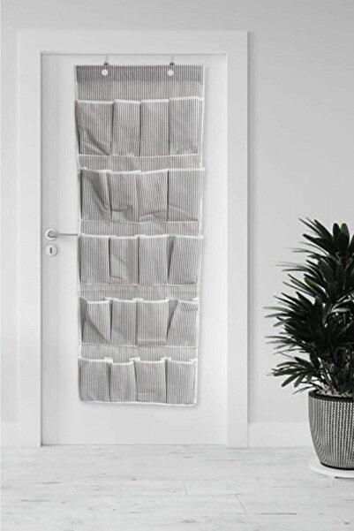 Vivyan 20 Cepli Kapı Arkası Çok Amaçlı Organizer - Siyah Çizgili