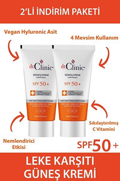 Dr. Clinic Güneş Koruyucu Krem Leke Karşıtı Spf 50 2 Li Set (50 ML 50 ML)