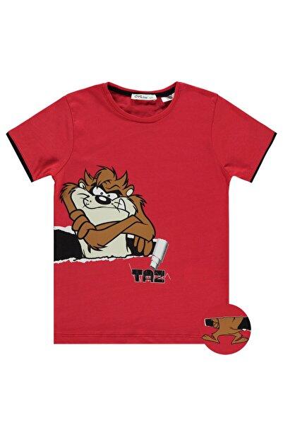 Baby Center Tazmanya Canavarı Erkek Çocuk Tişört 6-9 Yaş Kırmızı