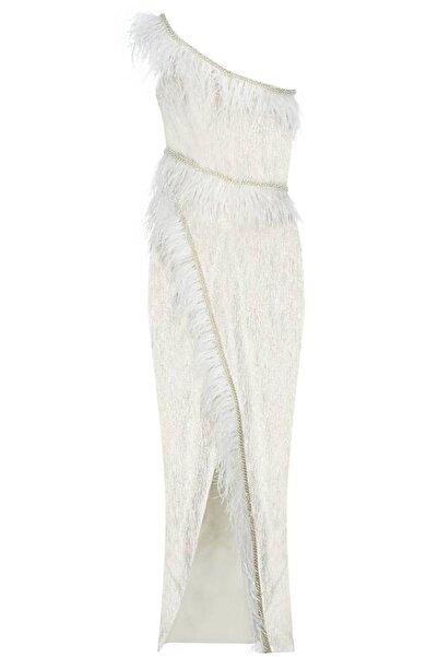 Bozsisters Kadın Beyaz Feliz Abiye Elbise