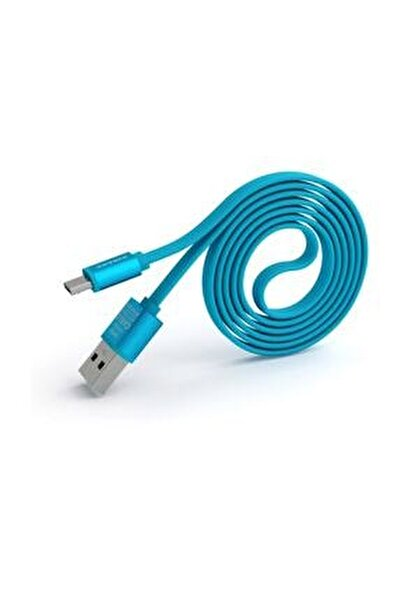PN-303 Yüksek Hızlı Micro USB Mavi Data Sarj Kablosu