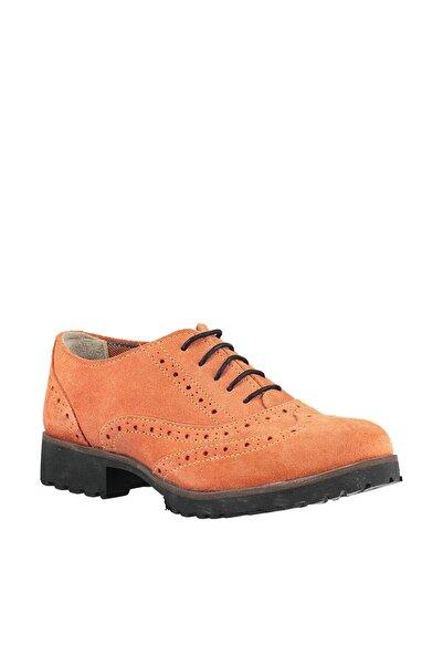 İnci Hakiki Deri Turuncu Ayakkabı ZY5146301094