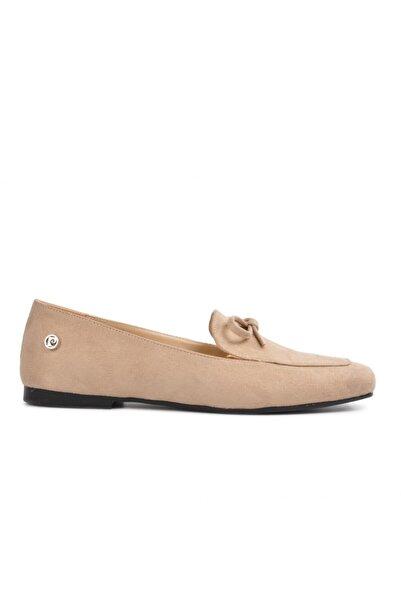Pierre Cardin 51073 Bej Süet Kadın Loafer Ayakkabı