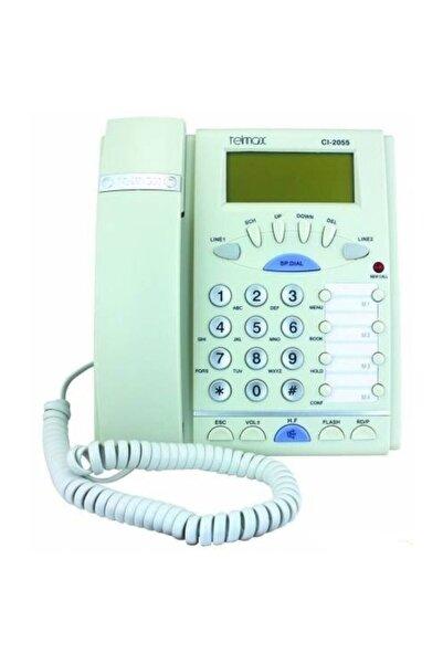 TELMAX Cı2055 Masaüstü Telefon Beyaz (çift Hatlı)