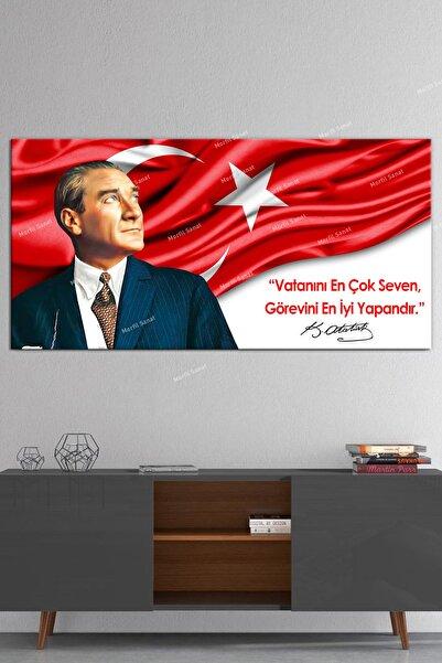Morfil Sanat Atatürk Makam Panosu Tablosu Kanvas Tablo Resmi Kurumlar Okullar