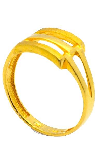 CiGOLD Kadın Gold Taşsız Yu?zu?k 22 Ayar Altın 3,03 gr 6352