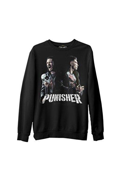 Lord T-Shirt Punisher Fight Siyah Erkek Kalın Sweatshirt