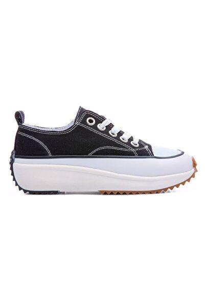 Tommy Life Tommylife Siyah-beyaz Kadın Bağcıklı Yüksek Taban Günlük Spor Ayakkabı-89070
