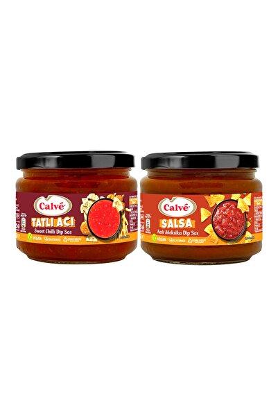 Calve Salsa Acılı Meksika Sos 300 gr & Tatlı Acı Sweet Chili Sos 300 gr