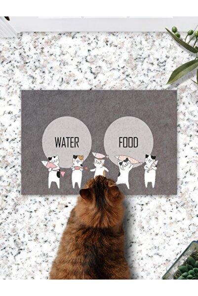 Patipeti Cute Cats Kedi Köpek Mama Eğitim Paspası Ve Beslenme Altlığı