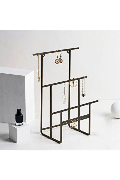 Drm Wood Siyah Takı Standı, Takılık, Küpelik, Bileklik, Kolye Seti, Takı Dolabı Düzenleyici