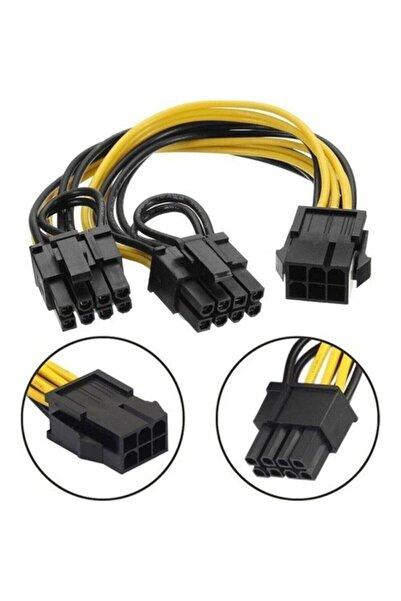 OEMMM Pci E 8 Pin (6+2) 2x Pci-e Ekran Kartı Power Çoklayıcı Kablosu